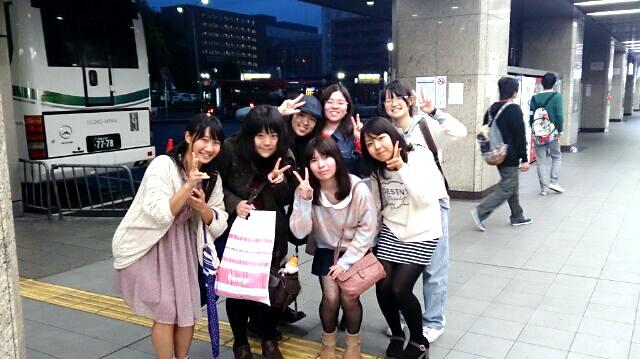 研修先への移動中。京都駅にて。